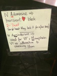 Adenosine vs Amiodarone (PI's)